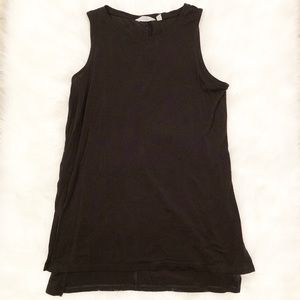 Athleta solid black tank top/tunic small